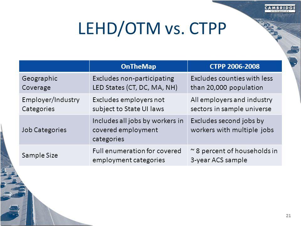 LEHD/OTM vs.
