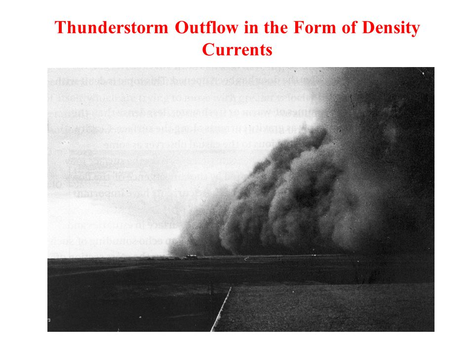 Thunderstorm Outflow in the Form of Density Currents
