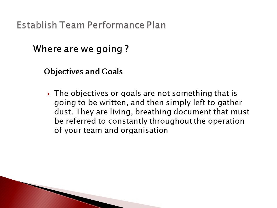 Policies Develop policies to ensure team members take responsibility for their own work.