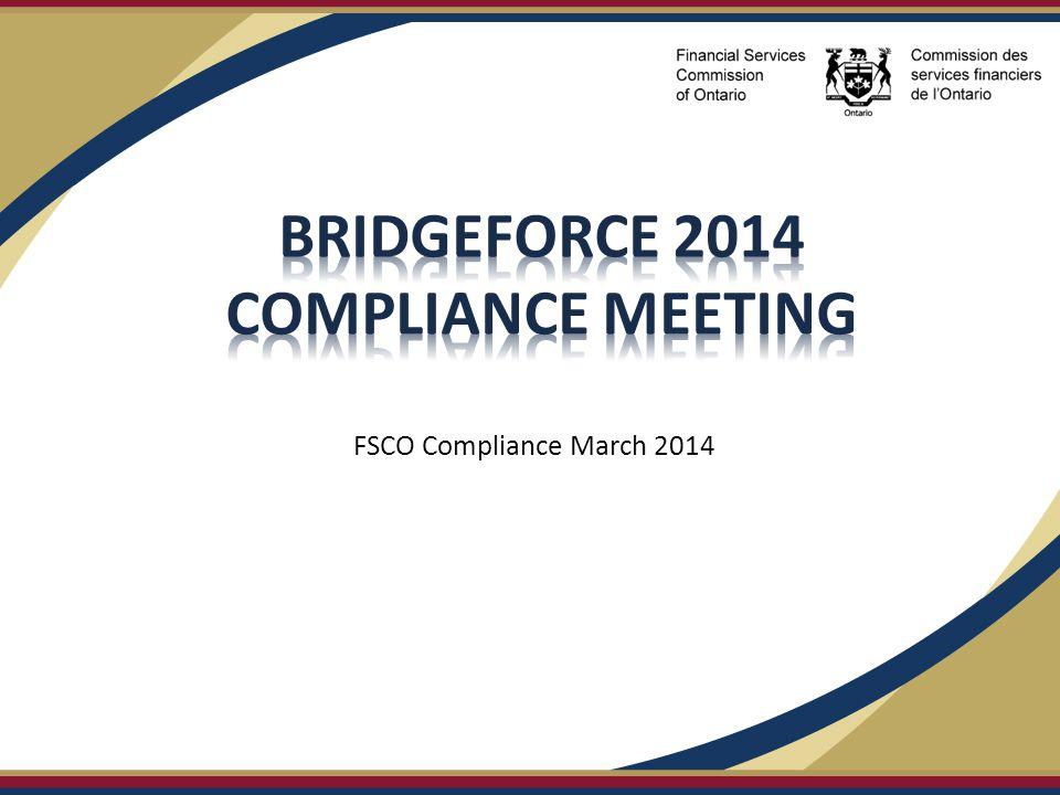 FSCO Compliance March 2014