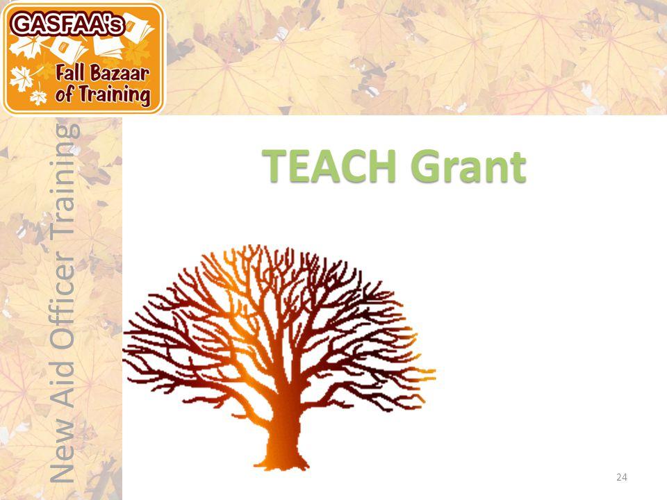 New Aid Officer Training TEACH Grant 24