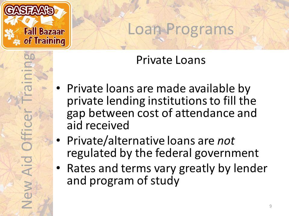 New Aid Officer Training Loan Programs – U.S.