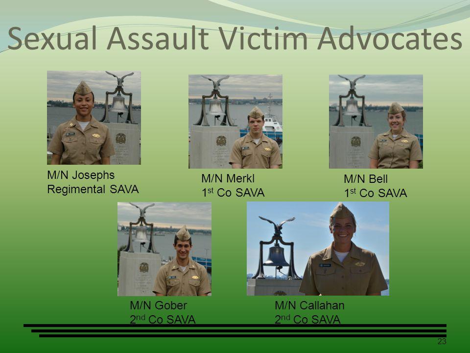 Sexual Assault Victim Advocates 23 M/N Josephs Regimental SAVA M/N Merkl 1 st Co SAVA M/N Bell 1 st Co SAVA M/N Gober 2 nd Co SAVA Photo Unavailable M/N Callahan 2 nd Co SAVA