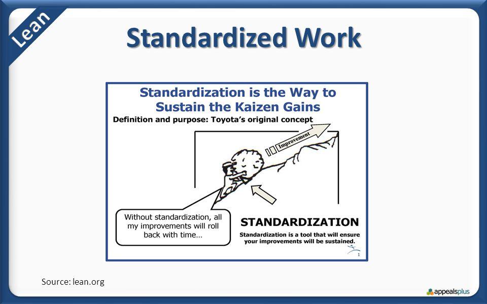 Standardized Work Source: lean.org