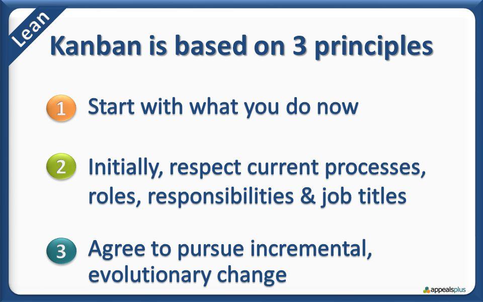 Kanban is based on 3 principles