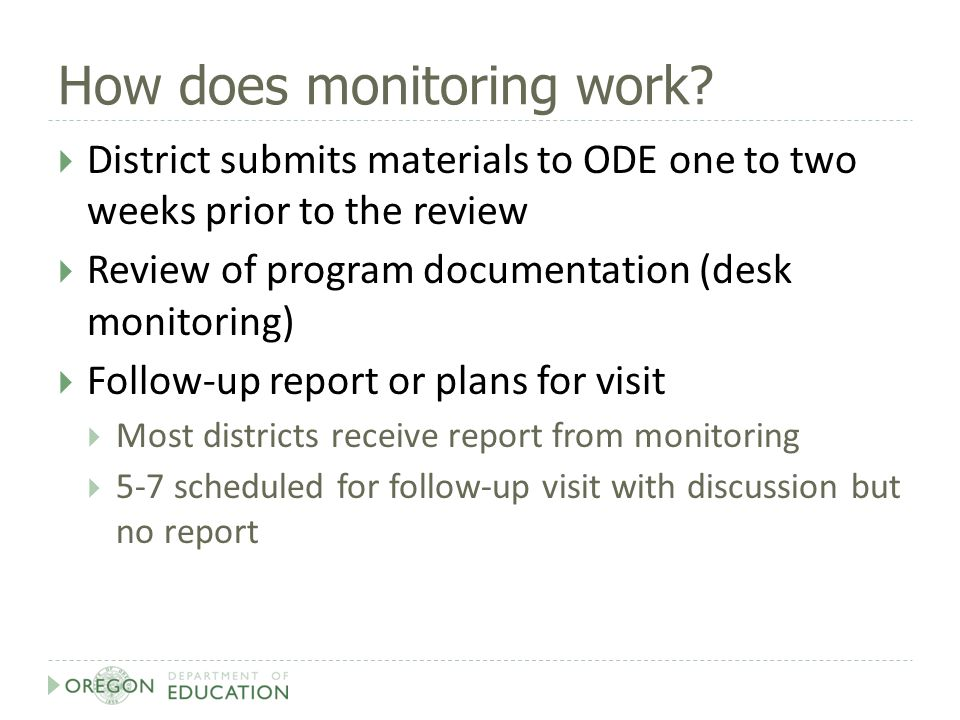 How does monitoring work.