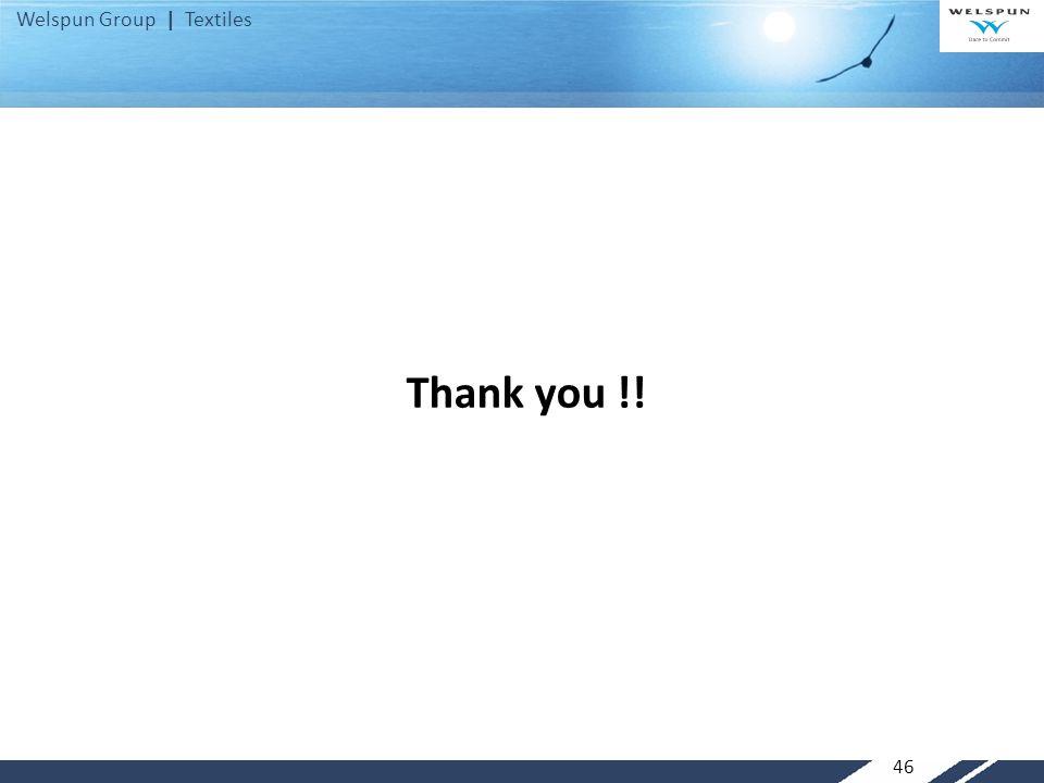 Welspun Group | Textiles Thank you !! 46