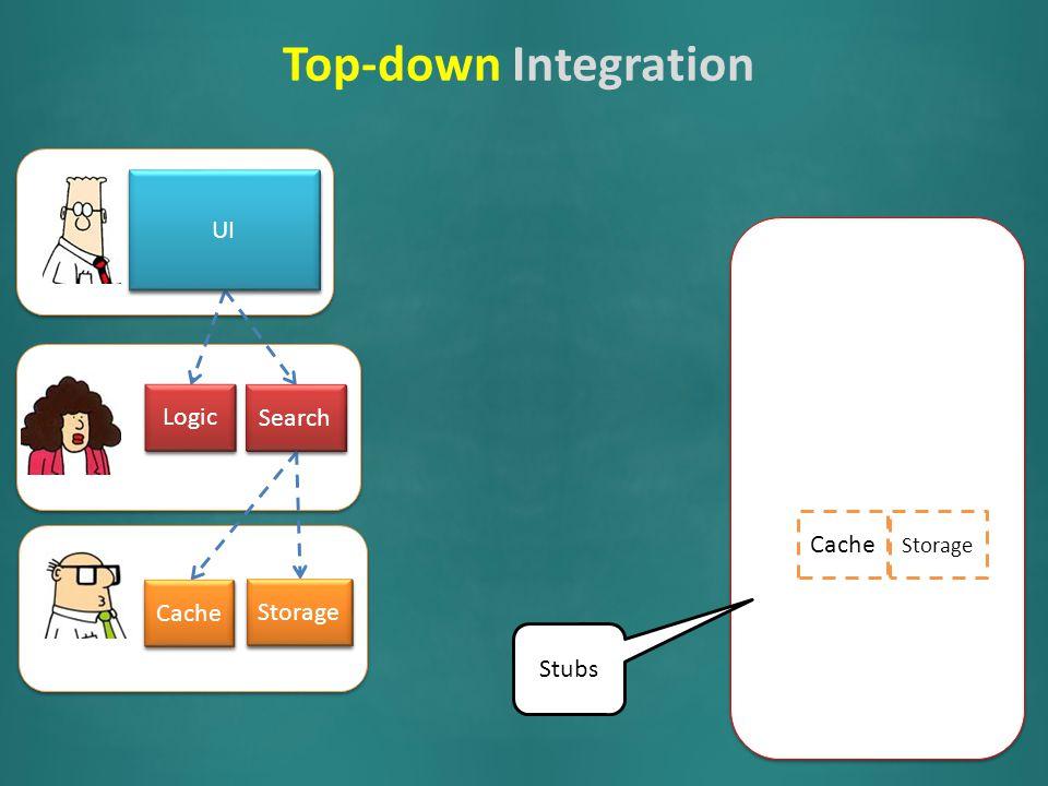 Logic Search Cache Storage UI Logic Search Cache Storage UI Search Logic Cache Storage UI