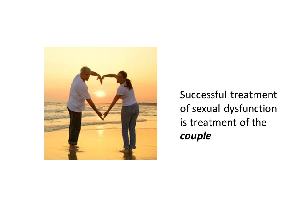 Successful treatment of sexual dysfunction is treatment of the couple