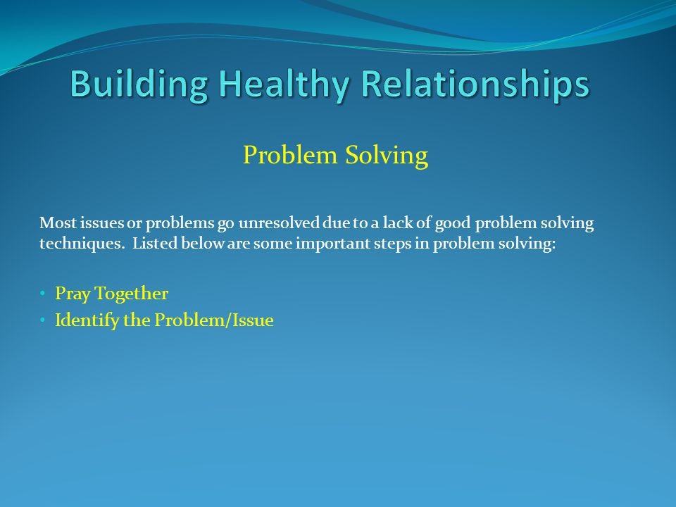 Problem Solving Most issues or problems go unresolved due to a lack of good problem solving techniques.