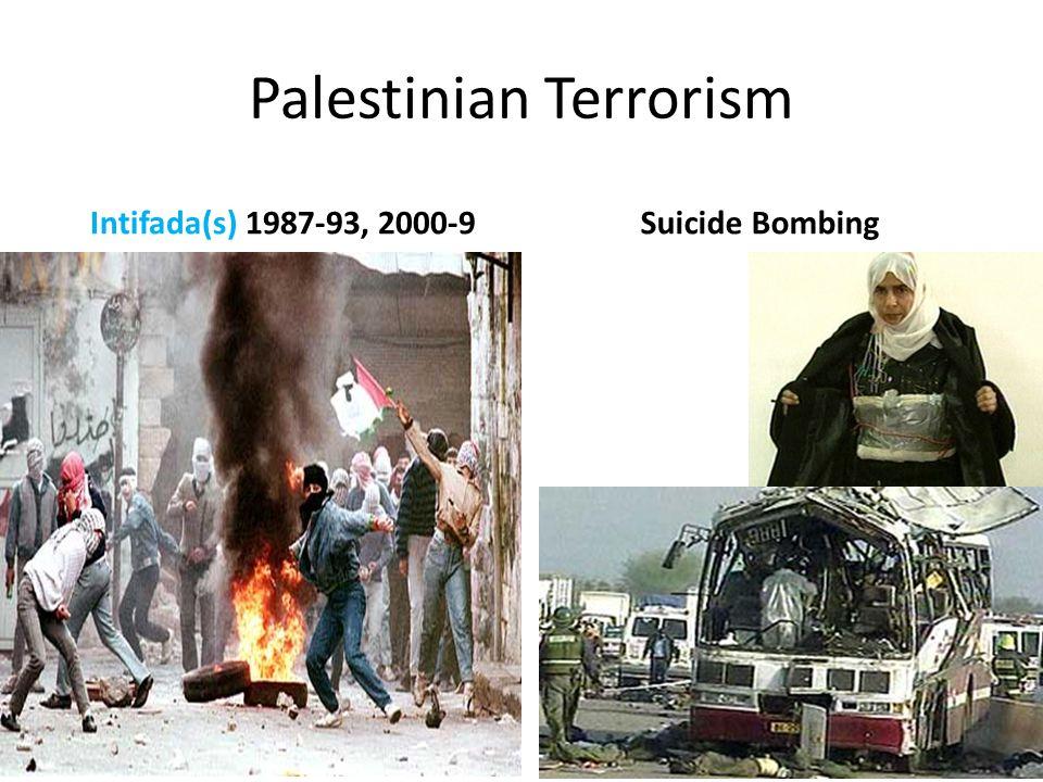 Palestinian Terrorism Intifada(s) 1987-93, 2000-9Suicide Bombing