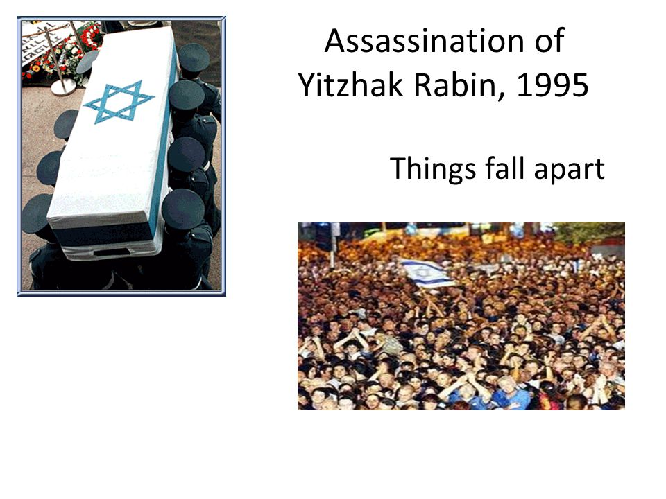 Assassination of Yitzhak Rabin, 1995 Things fall apart