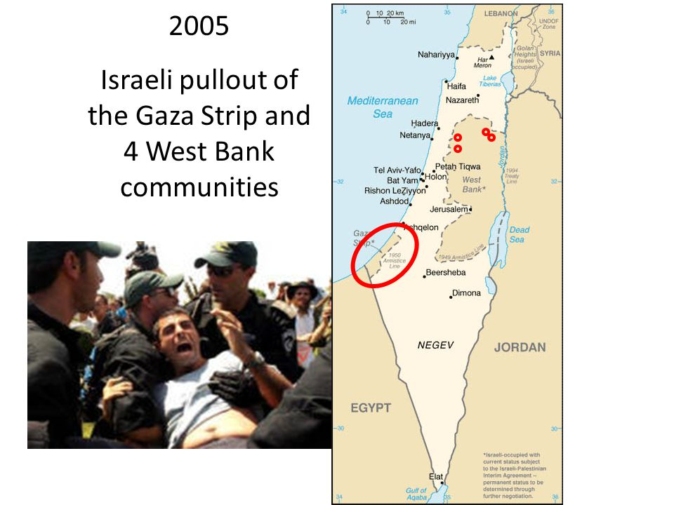 2005 Israeli pullout of the Gaza Strip and 4 West Bank communities