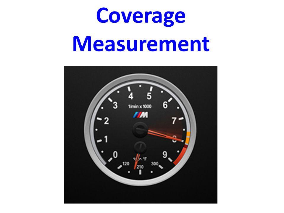 Coverage Measurement