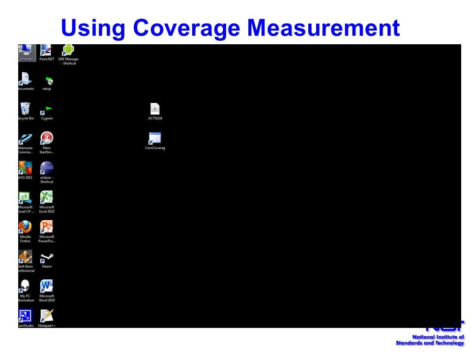 Using Coverage Measurement
