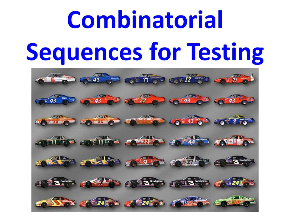 Combinatorial Sequences for Testing