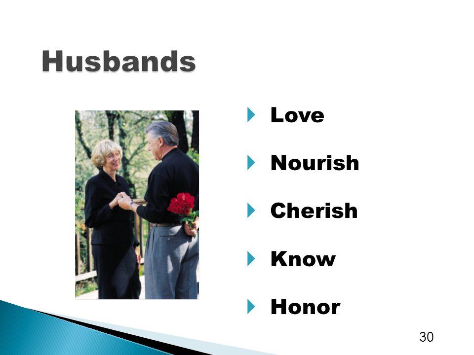  Love  Nourish  Cherish  Know  Honor 30