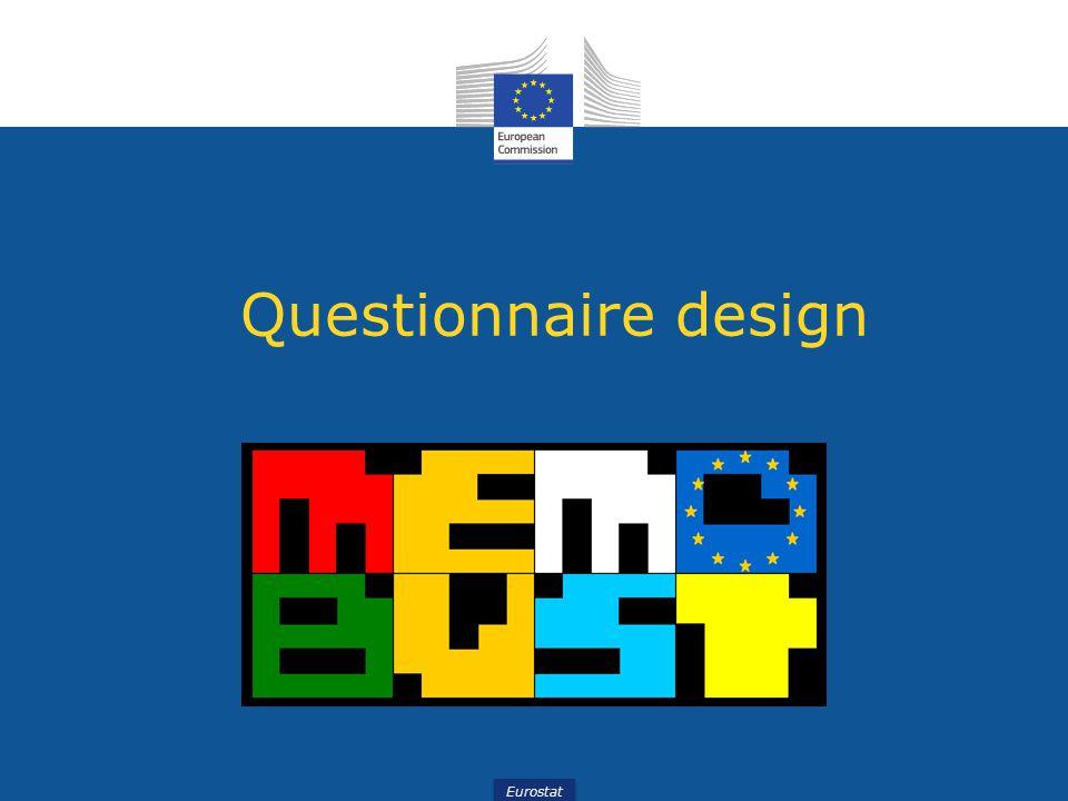 Eurostat Questionnaire design