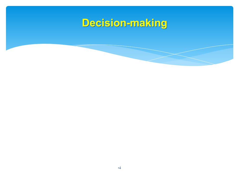 Decision-making 4