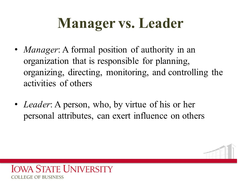 Manager vs.