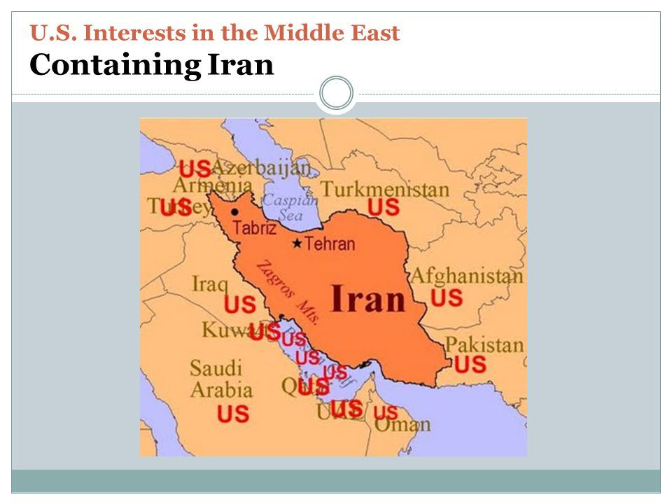 U.S. Interests in the Middle East Containing Iran