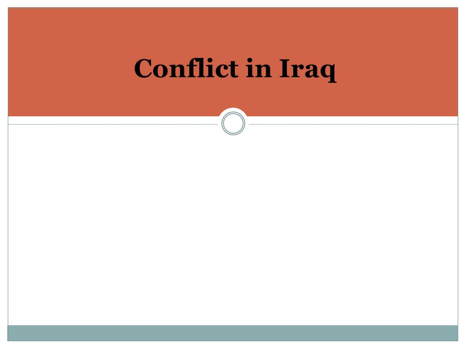 Conflict in Iraq