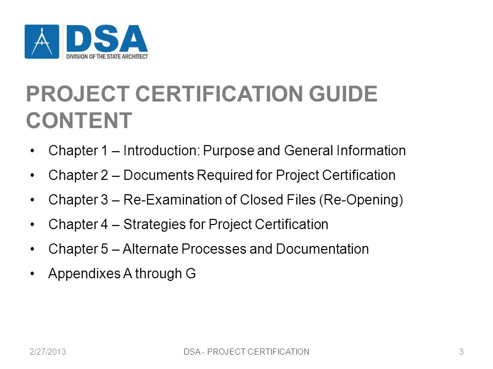 PROJECT CERTIFICATION LETTER Type A4 Page 1