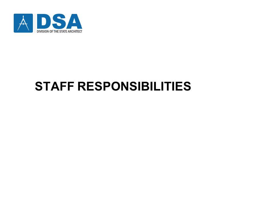 DSA Staff Responsibilities STAFF RESPONSIBILITIES