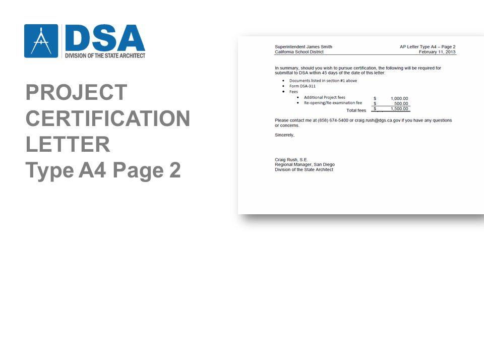 PROJECT CERTIFICATION LETTER Type A4 Page 2