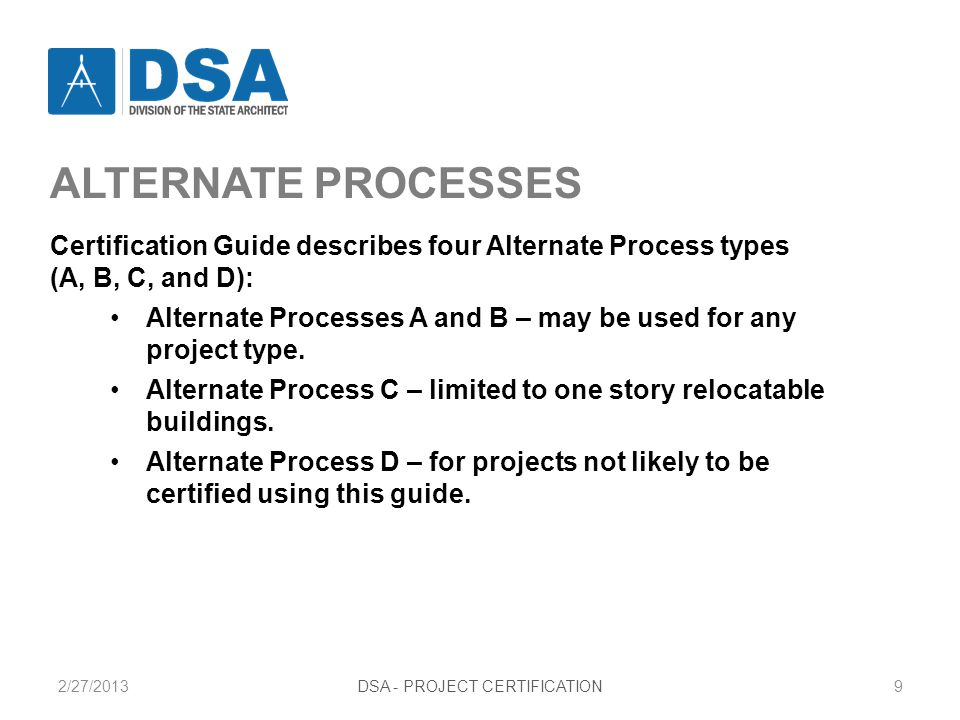 PROJECT CERTIFICATION LETTER Type A1