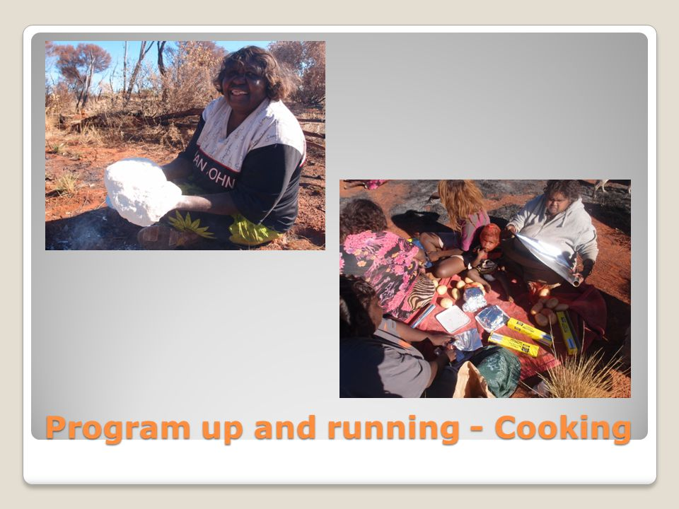 Program up and running - Cooking