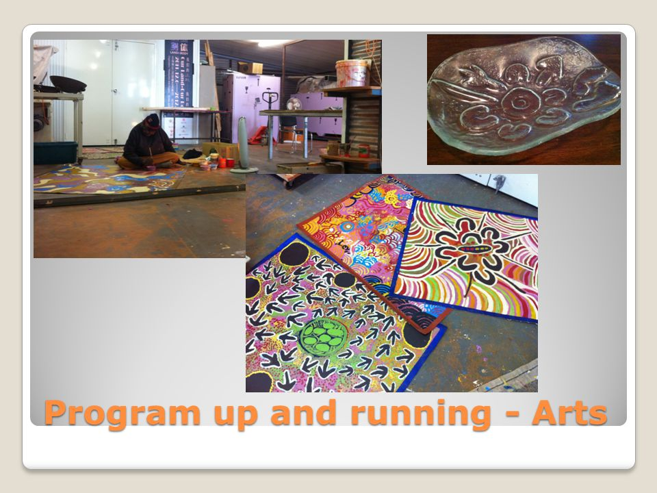 Program up and running - Arts