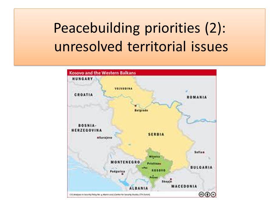 Peacebuilding priorities (3): nationalism