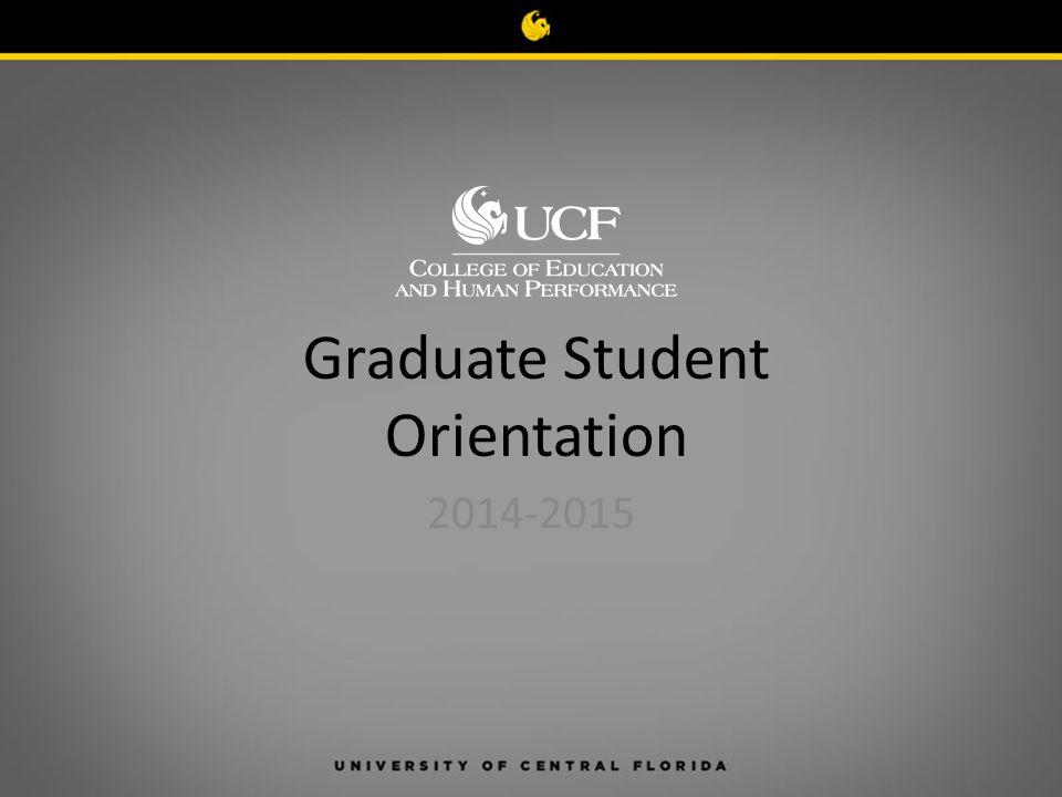 Graduate Student Orientation 2014-2015