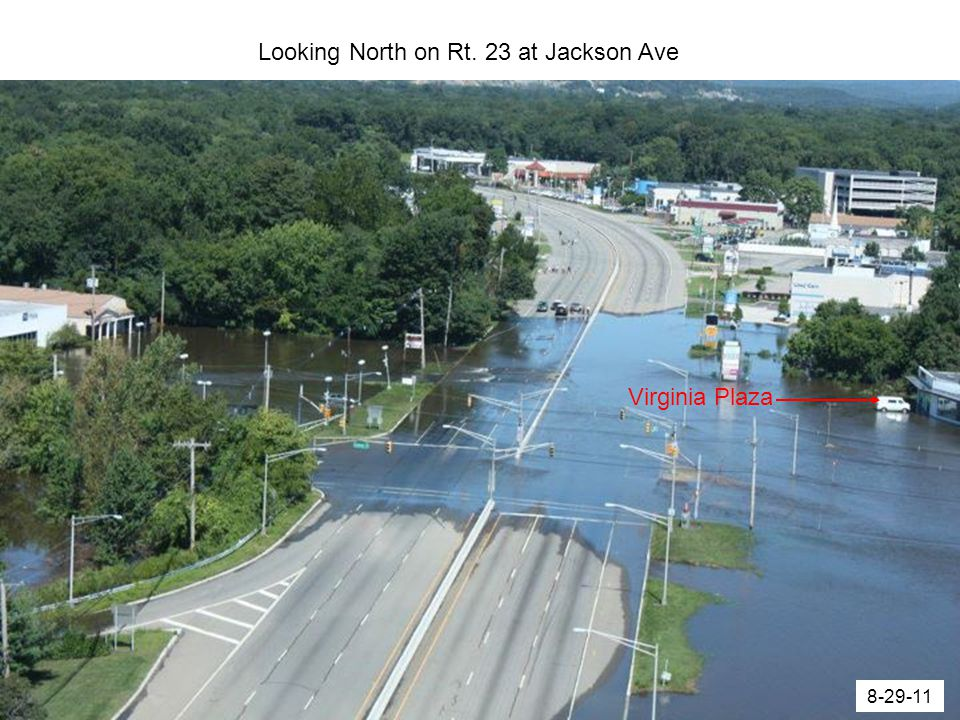 Looking North on Rt. 23 at Jackson Ave Virginia Plaza 8-29-11