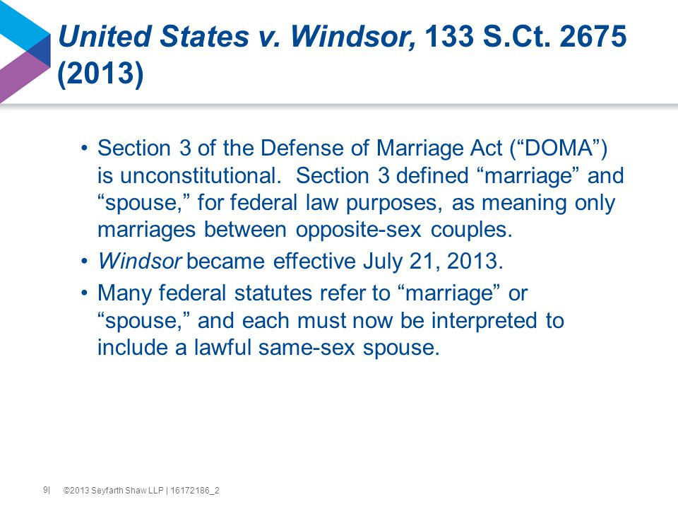 United States v. Windsor, 133 S.Ct.