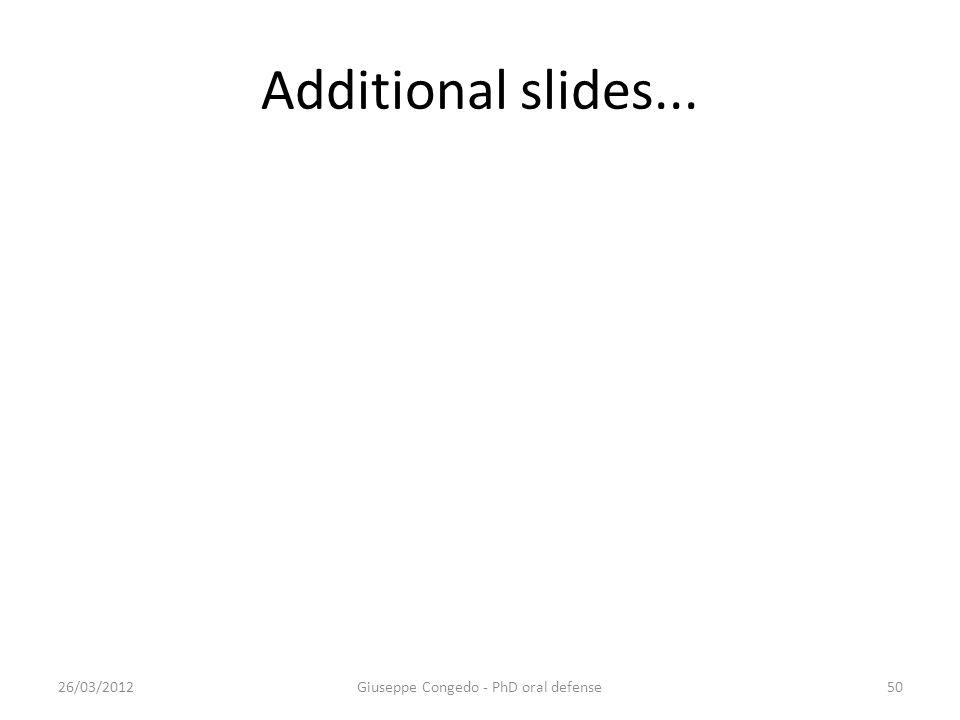 Additional slides... Giuseppe Congedo - PhD oral defense26/03/201250