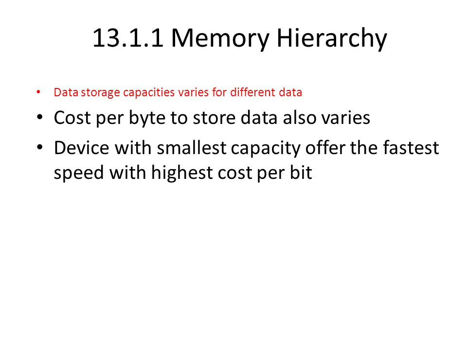 Memory Hierarchy Diagram Programs, DBMS Main Memory DBMS's Main Memory Cache As Visual Memory Disk File System Tertiary Storage