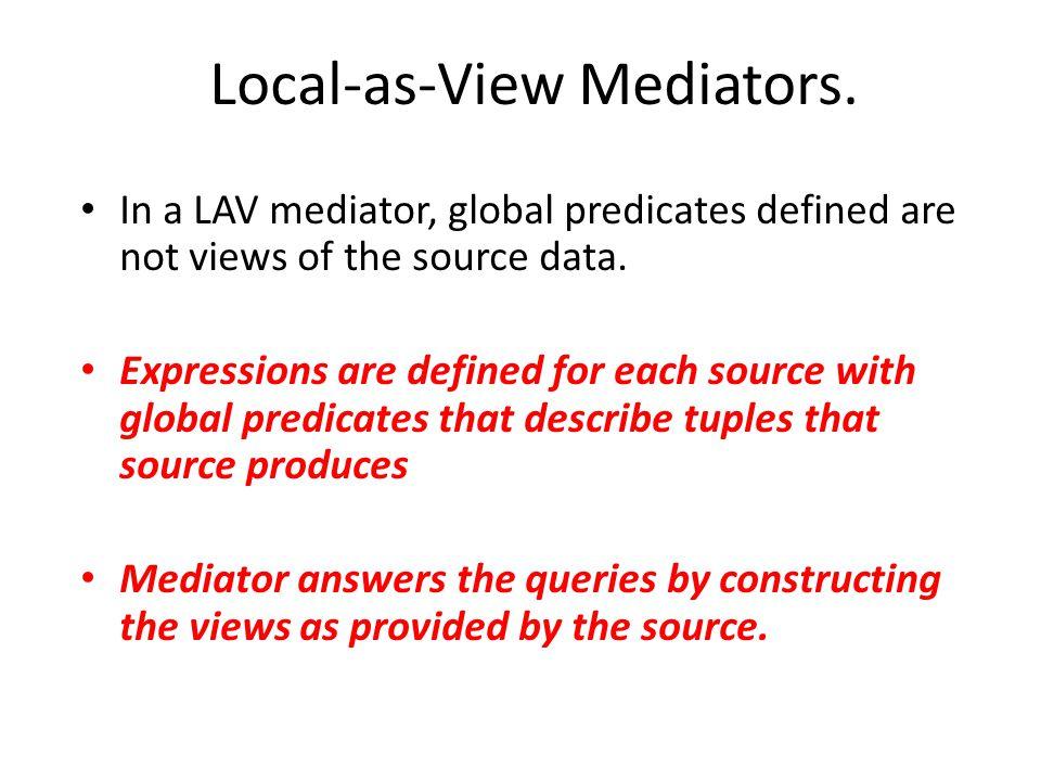 Local-as-View Mediators.