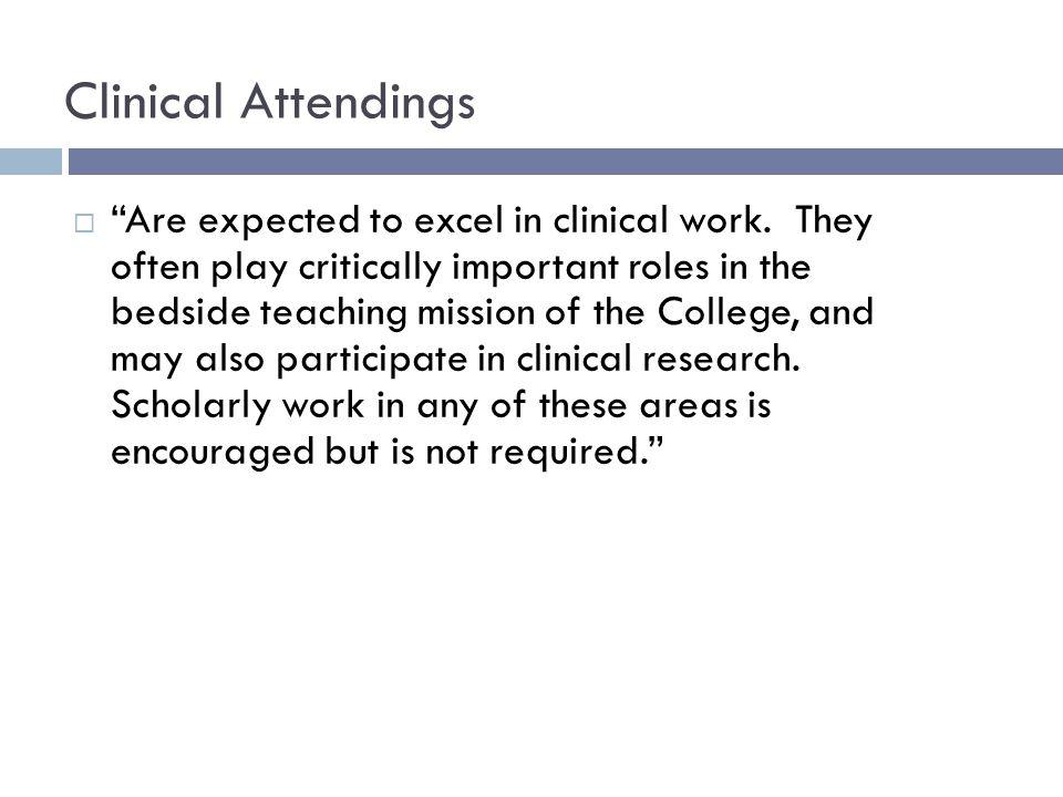 Assistant to Associate Professor Clinical Attending