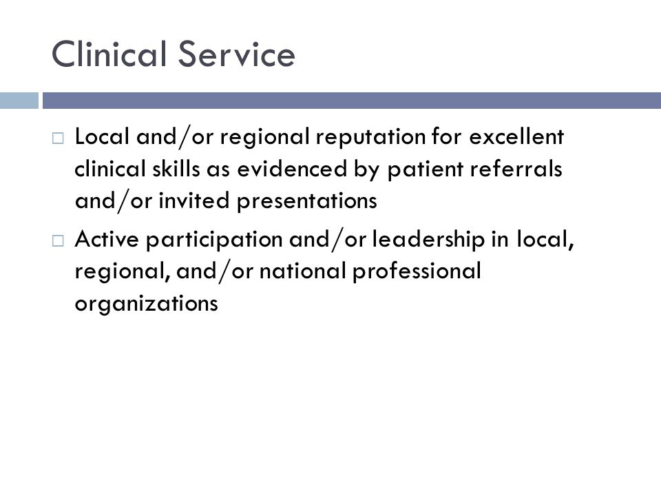 Teaching/Mentoring If the candidate's position involves a teaching role:  Evidence of high quality teaching demonstrated through formal peer and trainee evaluations  Document types of teaching and contact hours with your learners  Documented evaluation of teaching performance: (Your mean scores compared to the department scores, not copies of evaluations)  Serving as an effective role model of a practicing physician and mentor for students, residents, fellows, and colleagues.