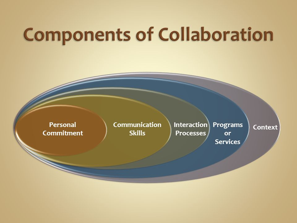 Communication Skills Personal Commitment Programs or Services Interaction Processes Context