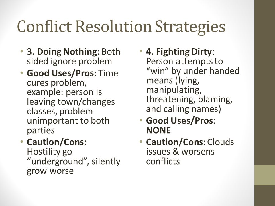 Conflict Resolution Strategies 3.