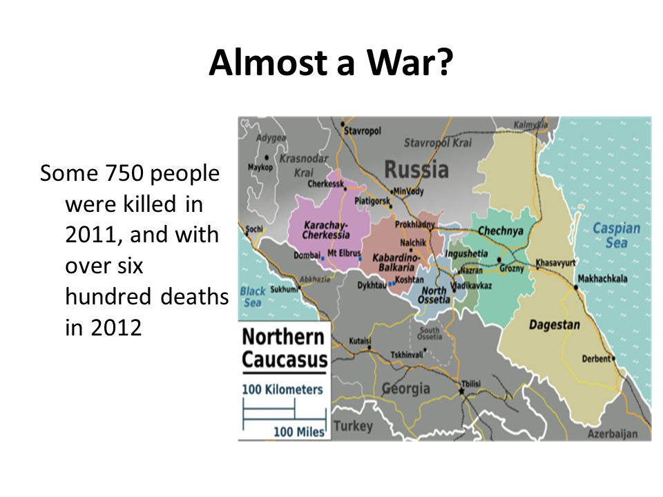 Almost a War? Some 750 people were killed in 2011, and with over six hundred deaths in 2012