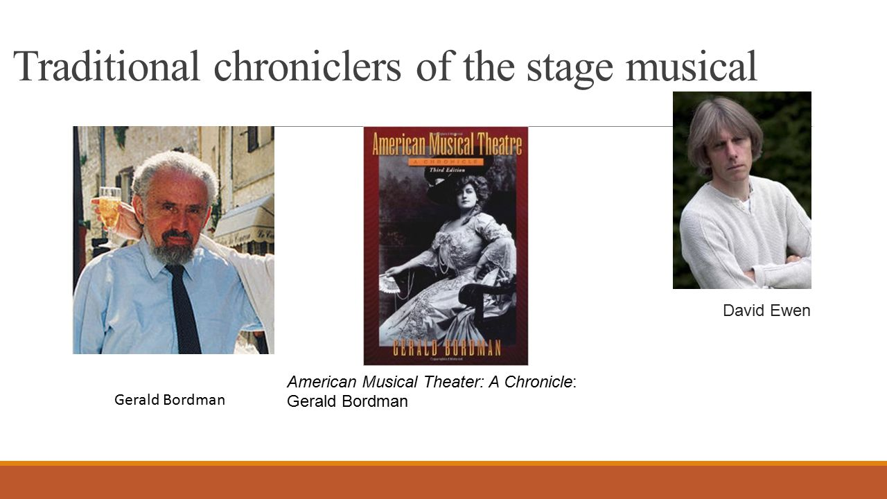 An overall fusion of all the elements of the musicals Timothy E. Scheurer