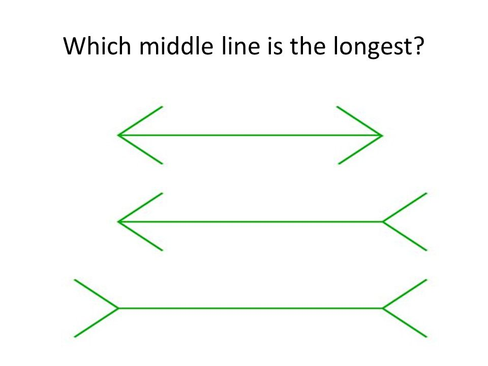 Which middle line is the longest?