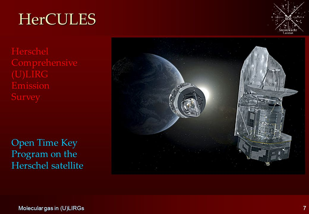 HerCULES 7 Herschel Comprehensive (U)LIRG EmissionSurvey Open Time Key Program on the Herschel satellite Molecular gas in (U)LIRGs