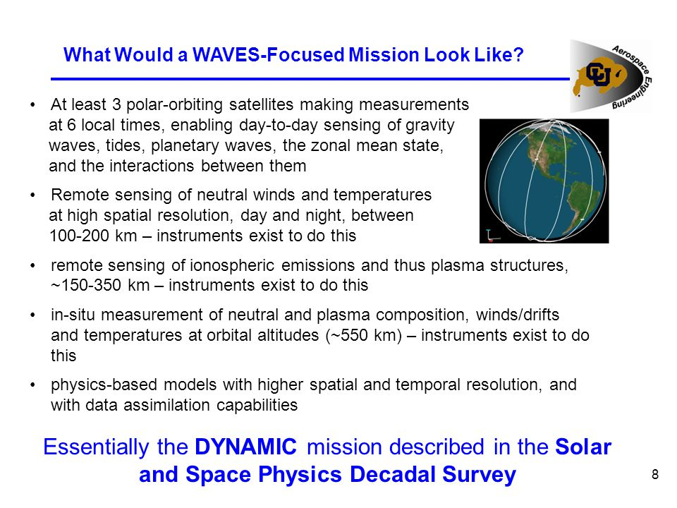 8 What Would a WAVES-Focused Mission Look Like.