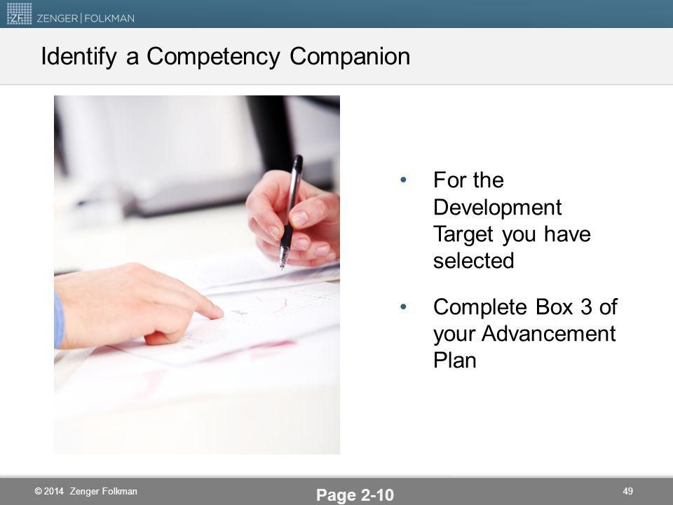© 2014 Zenger Folkman Competency Companions Page 2-9 48