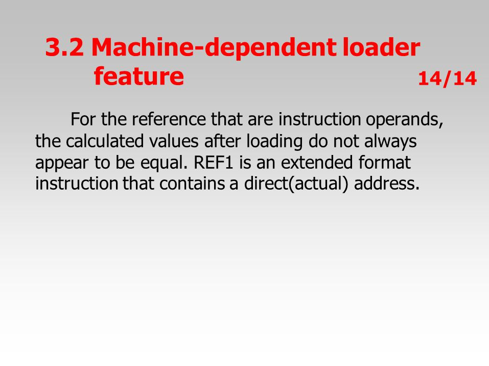 For the reference that are instruction operands, the calculated values after loading do not always appear to be equal.